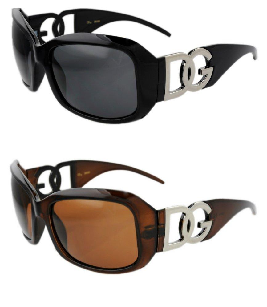 2 DG Eyewear 163 Sunglasses 1- Black 1- Brown  NWT!