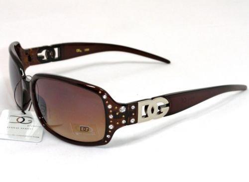 2 DG Eyewear Brown Rhinestone SUNGLASSES  20