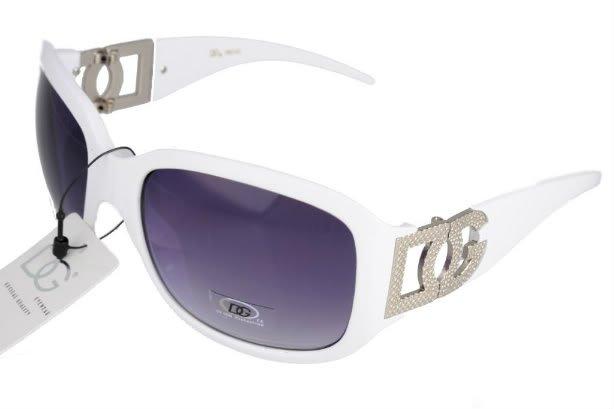 DG Eyewear White 042 SUNGLASSES w/Micro Fiber Bag