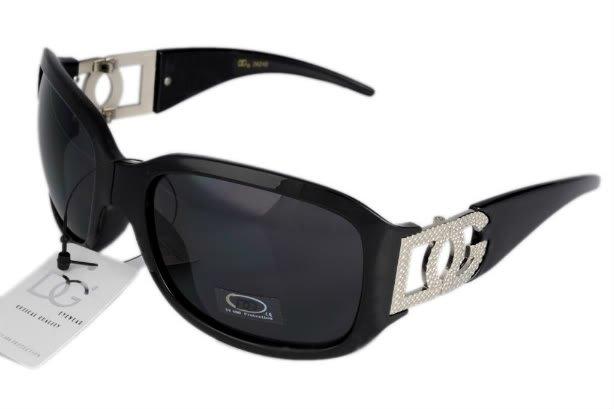DG Eyewear Black JE04262B SUNGLASSES w/Micro Fiber Bag
