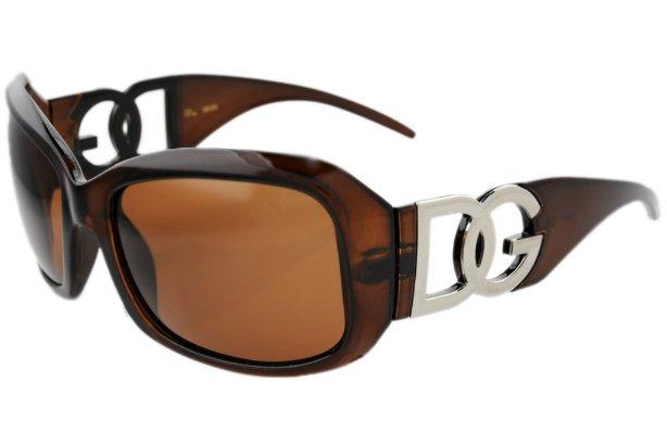 DG Eyewear Brown 163 SUNGLASSES w/Micro Fiber Bag