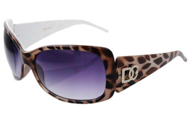 DG Eyewear White Animal Print  Sunglasses  JE53362W