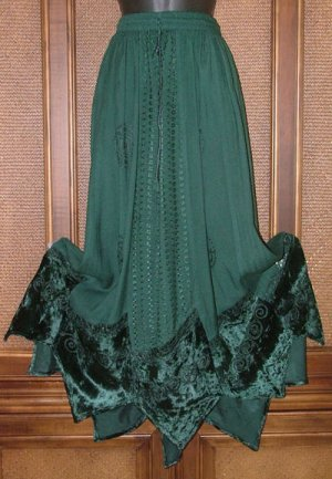 Fab Gypsy Elements Dancing Skirt Velvet 4 Colors!