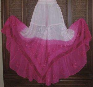 Beautiful Colors! Gradient Tie Dye Hippie Spinny Skirt SALE