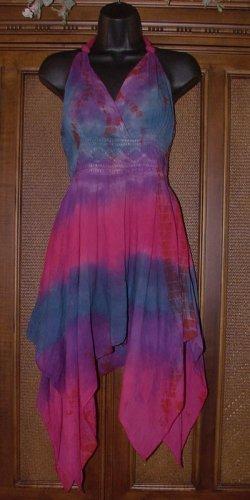 Purple Haze Long Tie Dye Pixie Top
