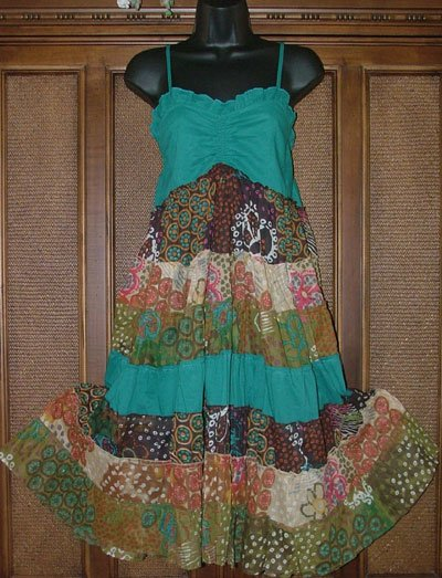 Hippie Chick Pieced & Artsy Sun Dress S or M