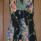 Funky Pixie Hem Long Top Black Floral Blowout