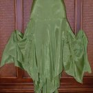 Pointy Bottom Godet Skirt Fairy Green