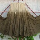 Perf Hippie Chick 1OAK Gradient Dye Full Fuller Fullest Skirt Khaki