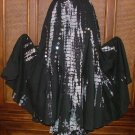 Gorgeous Twirlly Dancer Tie Dye Cotton Skirt Blk n Wht  S-XL