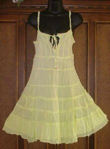 So Cute Raggedy Boho Tier Dresses With Bell Ties 3 Colors Size M Only Blowout