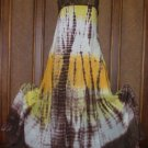 Funkygarb Long Godet Tie Dye Dresses Fancy Colors S-XL Free US Ship