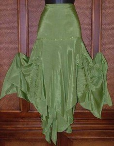 Fairy Forest Blow Out Great Bubble Godet Interesting Jagged Skirt Fits Most