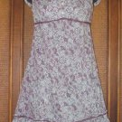 Poufy Pocket Empire Style 2 Way Urban Hippie Dress Purples L Only