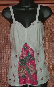 40's Vibe Retro Hippie Top Embroidery Details 2 Colors
