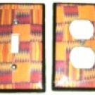 Switchplate Cover - Set - Kente Orange