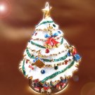 White Christmas Tree Engagement Jewelry Box Crystals