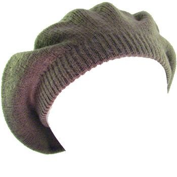 NEW SOLID BERET TAM  KNIT SLOUCHY JUNIOR CAP HAT GRAY