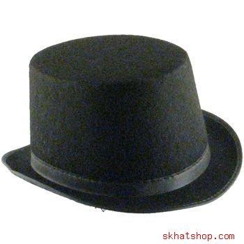 FELT TOP HAT RING MASTER DANCE COSTUME STAGE BLACK - LG