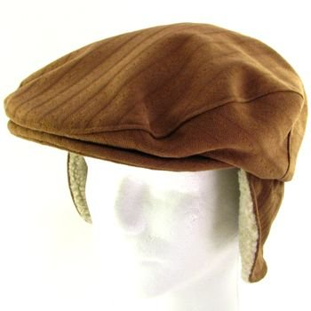 WINTER SHERPA EAR FLAPS IVY DRIVER CABBIE HAT AMBER LXL