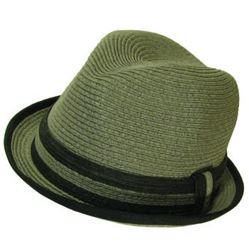 SUMMER UPTURN FEDORA TRILBY GANGSTER HAT GRAY M/L
