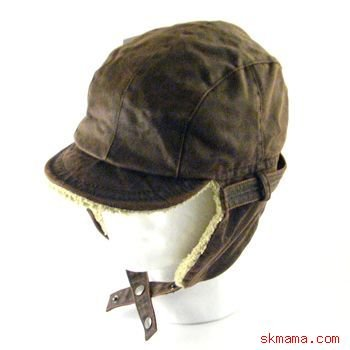 FAUX LEATHER FUR PILOT TRAPPER TROOPER HAT BROWN L/XL