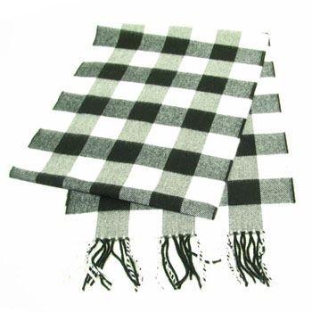 Buffalo Plaid Softer than Cashmere? Scarf Wrap Black Wh