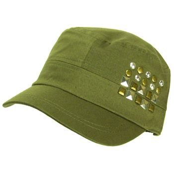 New Metal Castro GI Military Cadet Lined Hat Cap Olive