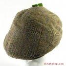 WOOLTWEED HERRINGBONE IVY DRIVING GOLF CAP HAT BROWN XL