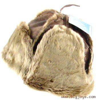 DISTRESSED TRAPPER TROOPER HAT WINTER HUNTER BROWN L/XL