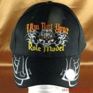 I Am Not Your Role Model SKULL BASEBALL CAP HAT BLK ADJ