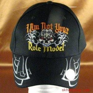 I Am Not Your Role Model SKULL BASEBALL CAP HAT BLK ADJ