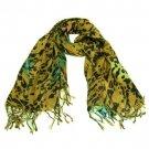Animal Print Leopard Light Scarf Shawl Wrap Multi Beige