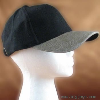 NEW WOOL ADJUSTABLE PLAIN SPORT CAP HAT BLACK URBAN