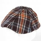 Cotton Scottish Plaid Panel Ivy Driver Hat Brown M/L