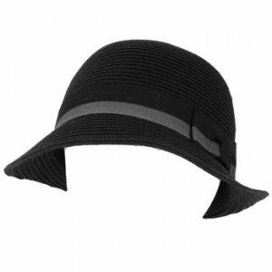Cloche Bucket Bell Flip Summer Sun Beach Hat Black Gry