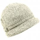 Winter Beanie Bucket Foldable Crusher Shimmer Hat Gray