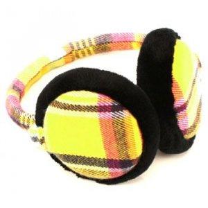 Winter Ski Fuzzy Earmuff Ear Warmer Adjustable Yellow