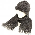 Kid's 4-9 Winter Soft Chenille Beanie Scarf Set Black