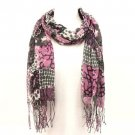 Patch Animal Print Summer Light Scarf Shawl Wrap Purple