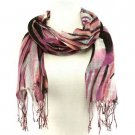 Colorful Zebra Print Summer Light Scarf Wrap Purple