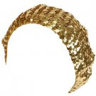 Sequins Shimmer Sparkle Stretch Beret Beanie Hat Gold