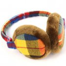 Winter Ski Fuzzy Earmuff Ear Warmer Adjustable Rainbow