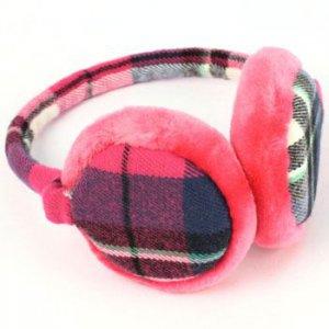 Winter Ski Fuzzy Earmuff Ear Warmer Adjustable Pink