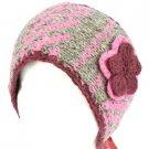 Wool HandKnit Himalaya Headwrap Headband Lined Ski Pink