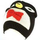 Winter Knit Penguin Animal 2ply Beanie Snow Ski Hat Cap