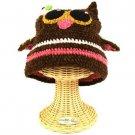 San Diego Hat Co Girls 1-2 Soft Handknit Owl Animal