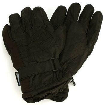 Men's Winter Thinsulate 3M Waterproof Velcro Ski Wrist Cover Gloves Black L/XL