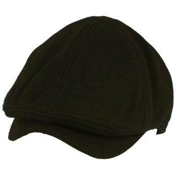 Men's Winter Wool Snap Open Duck Bill Curved Ivy Cabby Driver Hat Cap Black L/XL