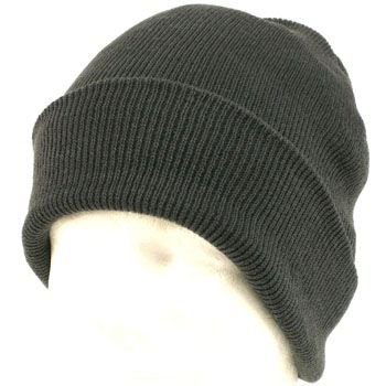 Men's Wiinter Thinsulate 3M Ribbed Knit Ski Snow Beanie Skull Cap Hat 2ply Gray